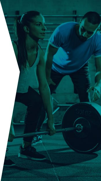 exercise fitness professional training woman weights register renew with reps ireland